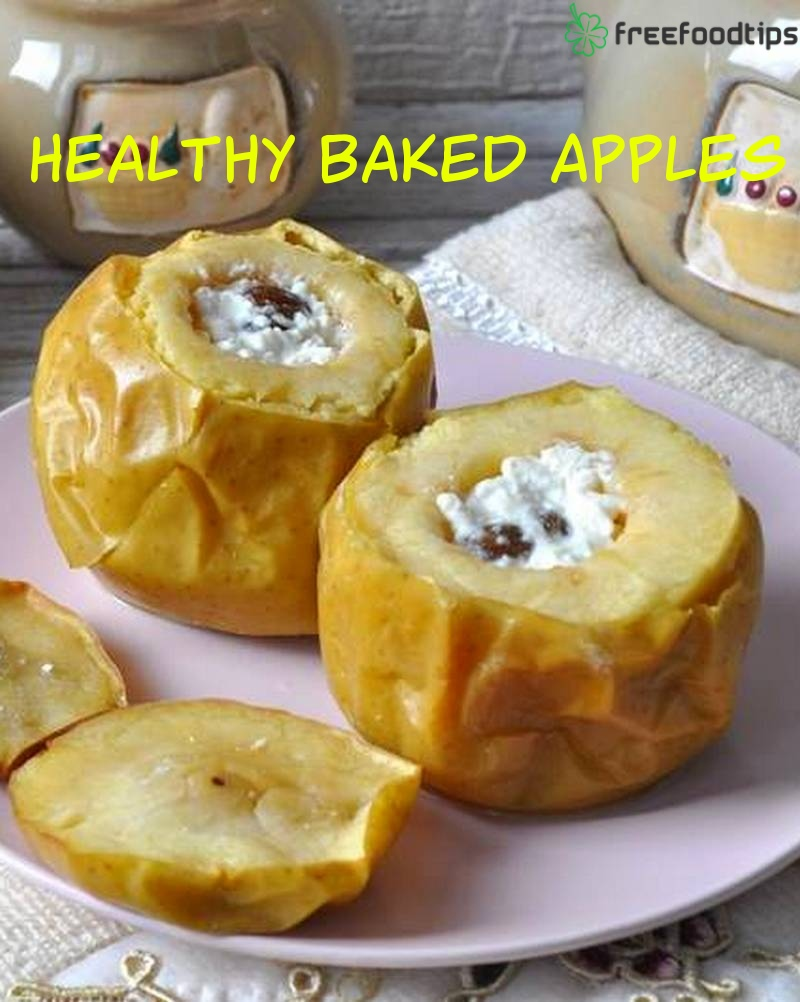 Healthy Baked Apples with Cottage Cheese