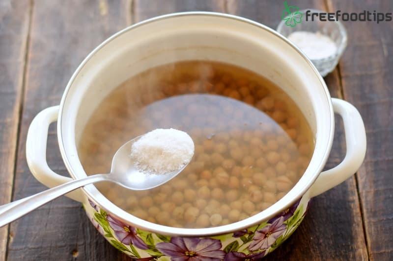 Add salt and seasonning