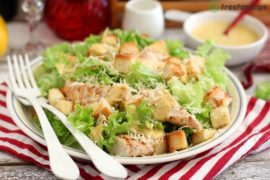Classic Caesar Salad with Grilled Chicken Recipe