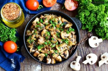 Mushrooms saute with soy sauce