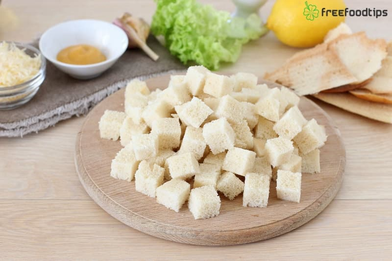 Step_2 How to make croutons for Caesar salad