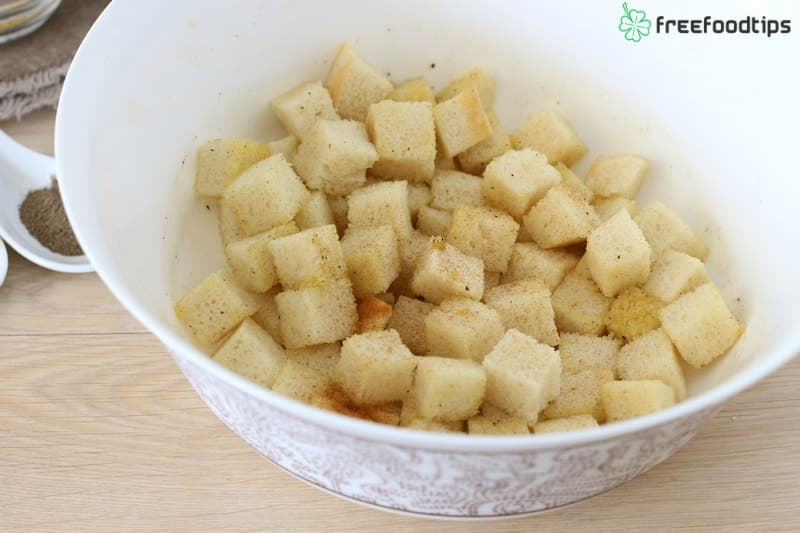 Step_4 How to make croutons for Caesar salad
