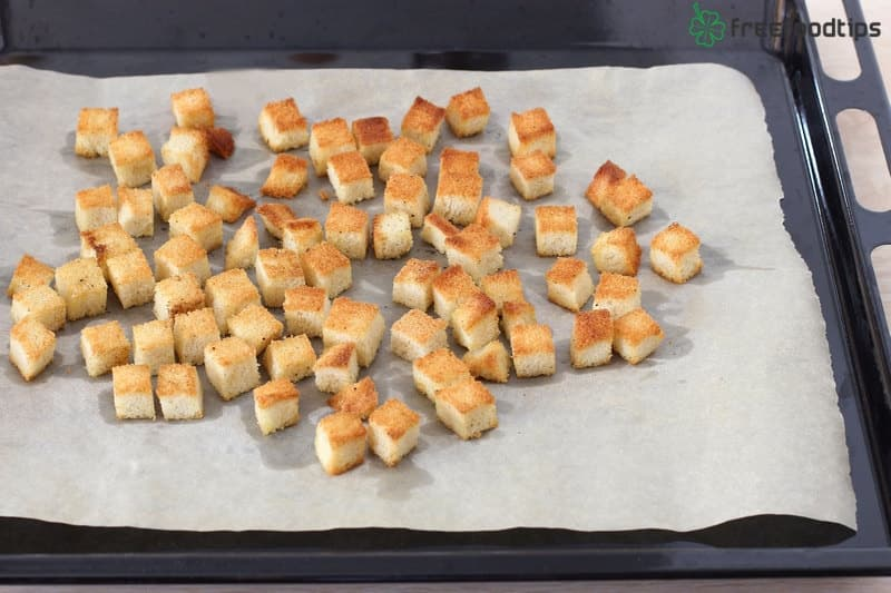 Step_5 How to make croutons for Caesar salad