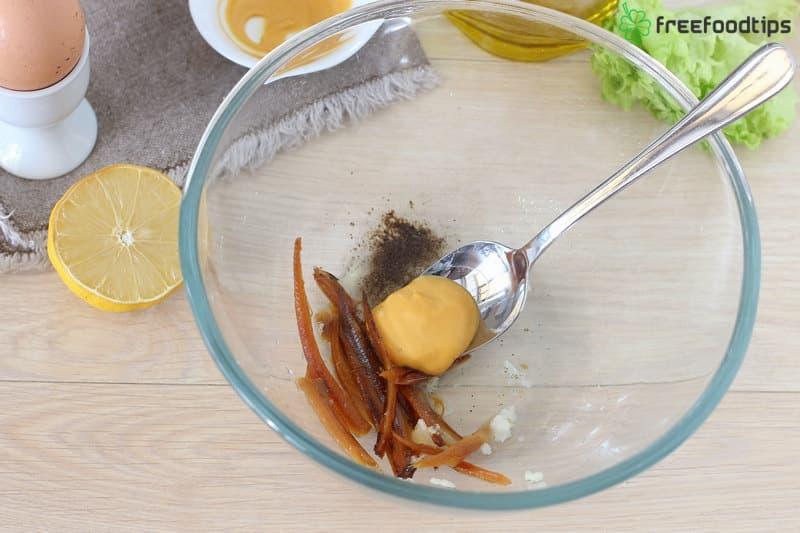 Step_7 How to make Caesar salad dressing