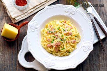 Easy Spaghetti Carbonara with Cream Recipe