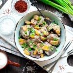 Chicken livers with onion and carrot recipe