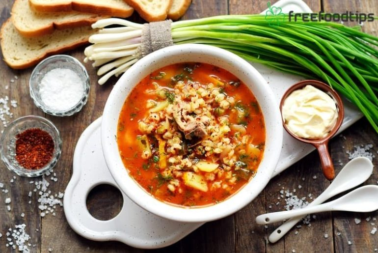Pickle Soup with Barley