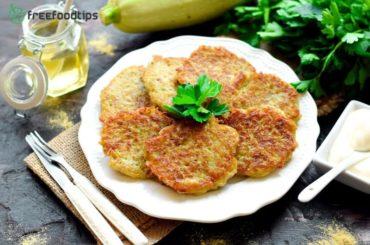 Potato pancakes with summer squash