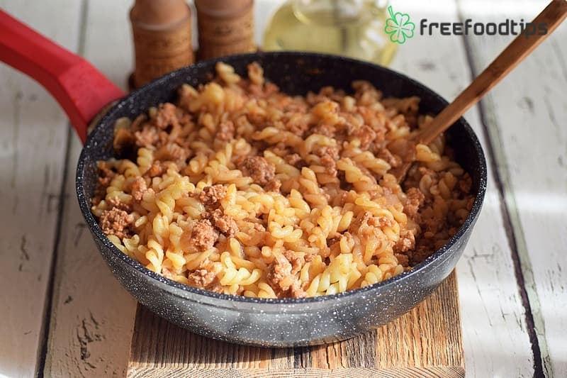 Step_9 How to cook pasta with minced meat