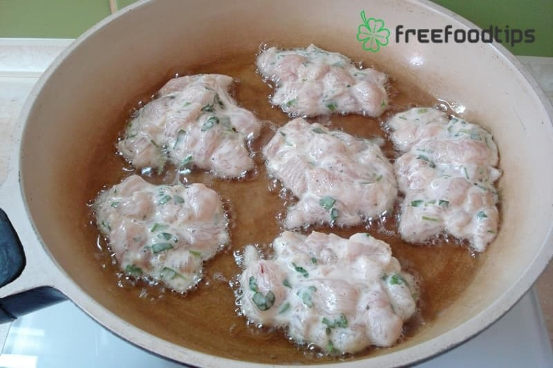 Step_6 How to cook chicken fritters at home