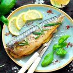 Baked Mackerel with Lemon and Rosemary