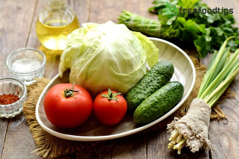 Ingredients for Delicious Cabbage Salad