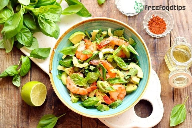 Shrimp Avocado Lime Salad
