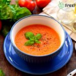 Homemade Soup with Fresh Tomatoes