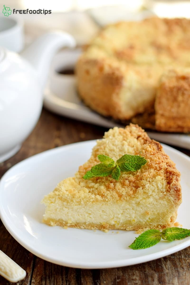 Lemon cottage cheese tart