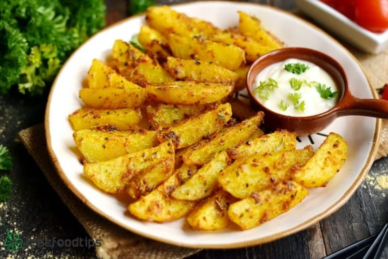 Baked potato wedges with incredible seasoning recipe
