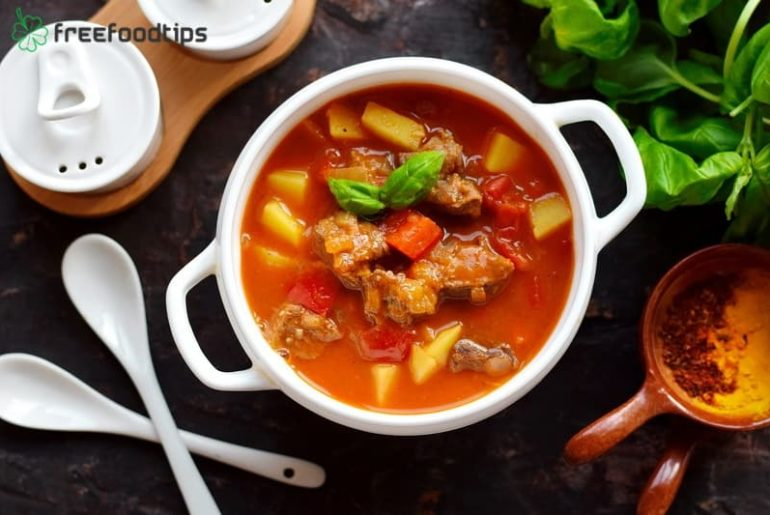 Beef goulash soup ingredients