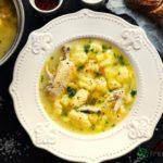 Chicken soup with dumplings recipe