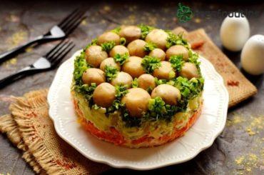 Marinated Mushrooms 7-Layer Salad