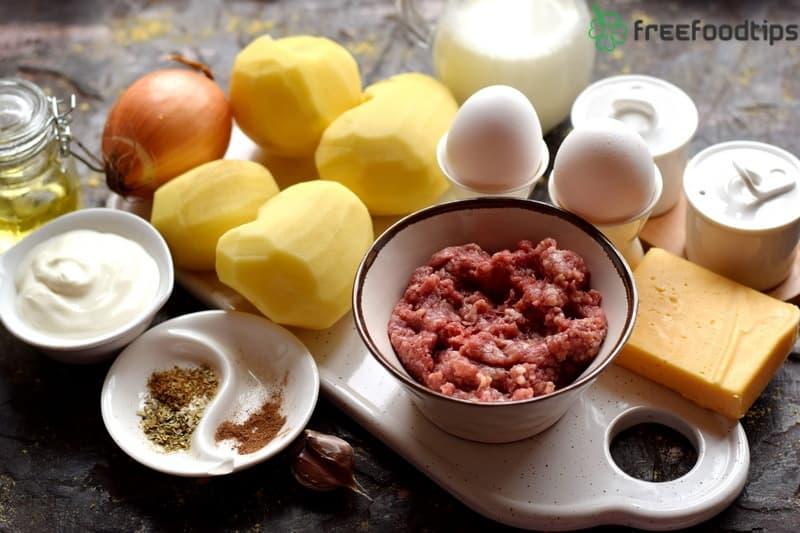 Mashed Potato Pie Ingredients