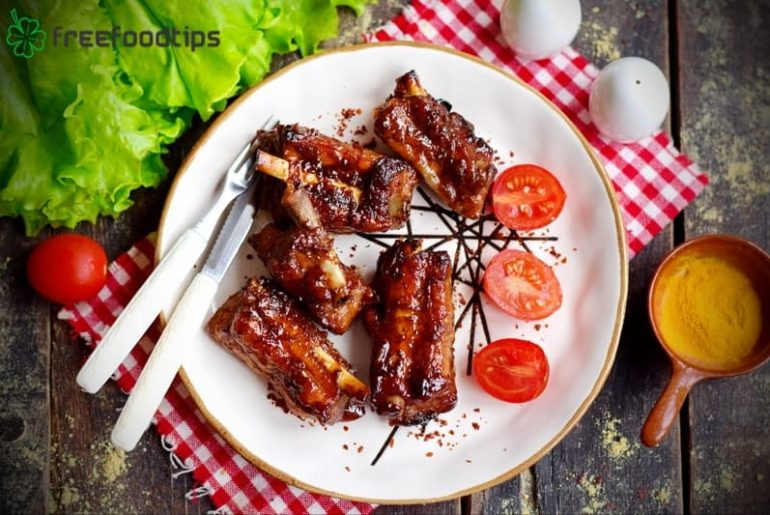 Baked Pork Ribs with Honey Soy Sauce Marinade