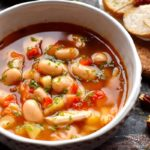 Canned beans soup with pork