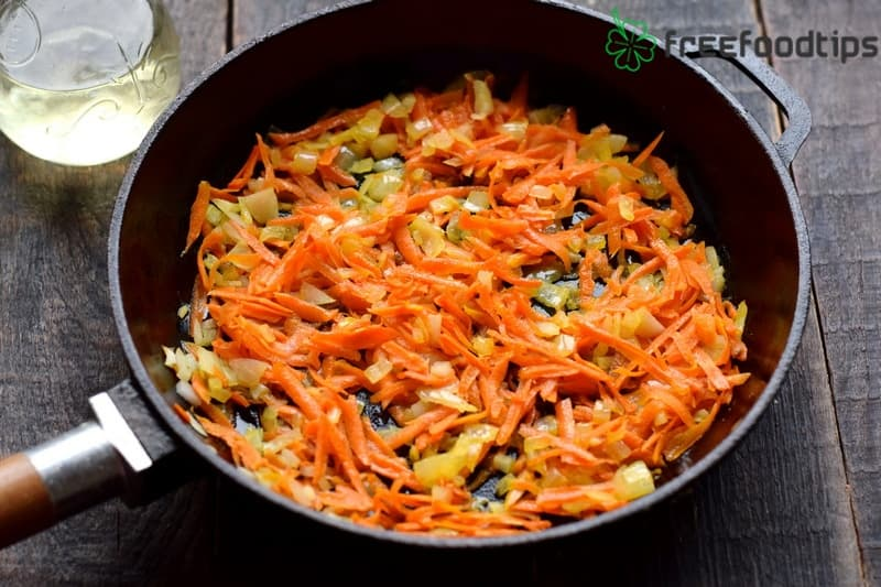 Sauté onion and carrot together