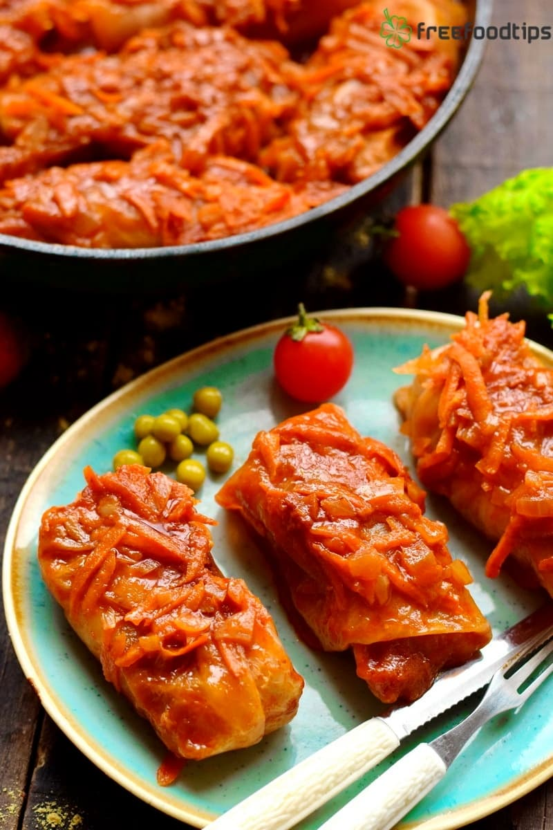 Cabbage rolls recipe with minced meat