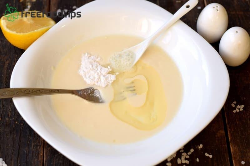 Add oil and lemon juice
