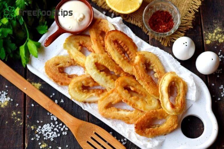 Pan-fried Squid Rings