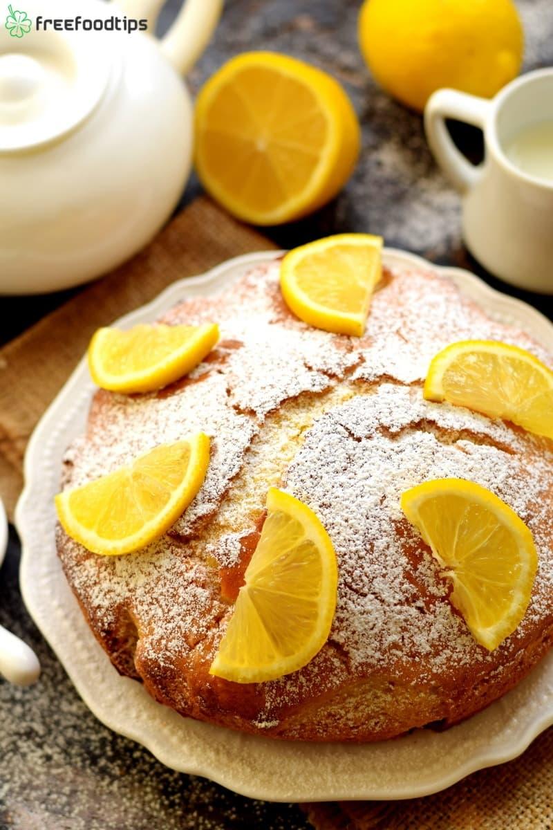 Simple Cake Recipe with Lemon