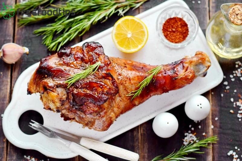 Baked Turkey Leg with Soy Sauce Marinade Recipe
