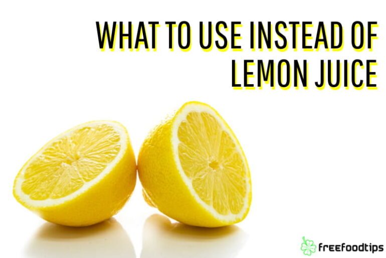 Best substitutes for lemon juice
