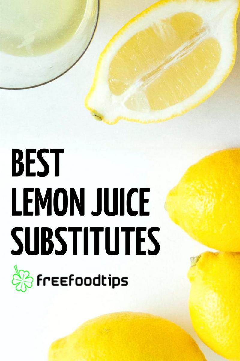 What do you use instead of lemon juice