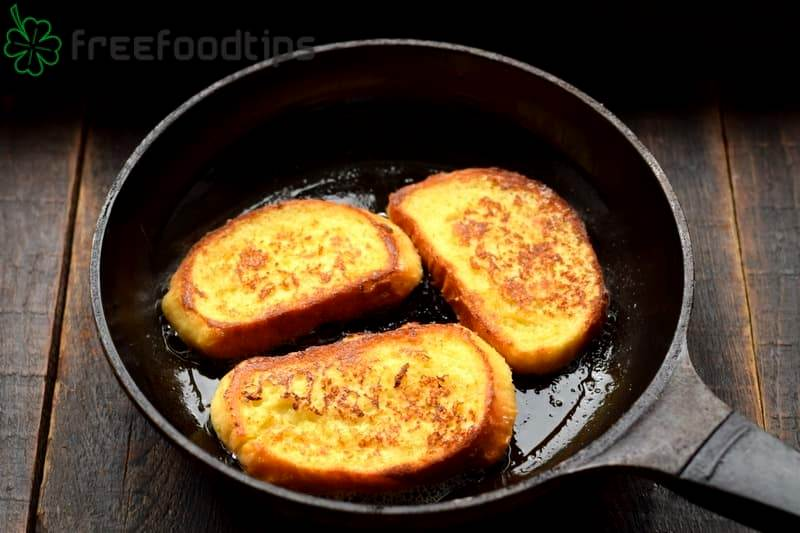 Fry French toasts until golden brown