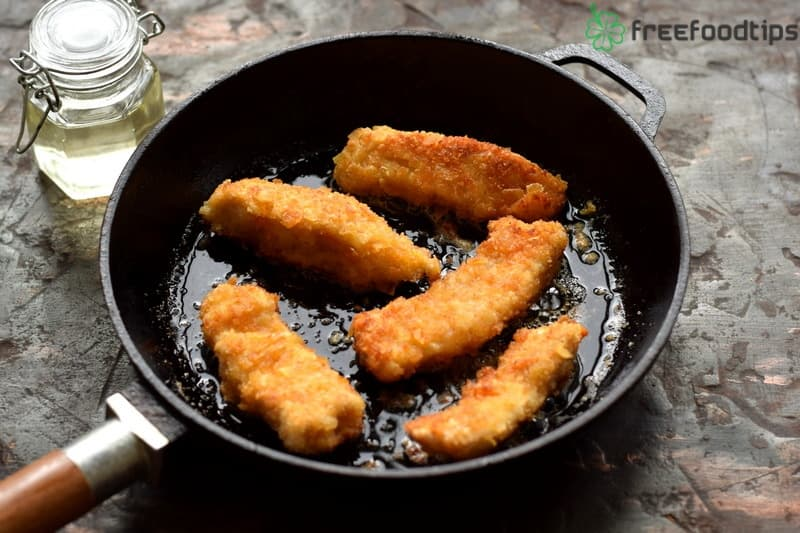 Pan fry the nuggets