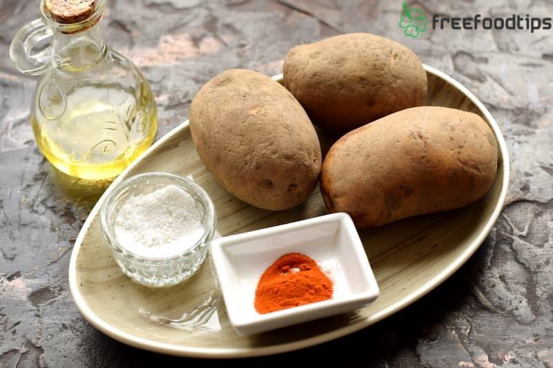 Homemade potato chips ingredients