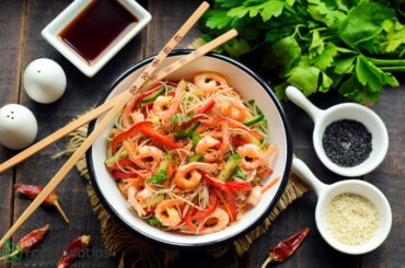 Cold Noodle Salad with Shrimps