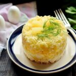 Layered Chicken Salad with Eggs and Pineapple