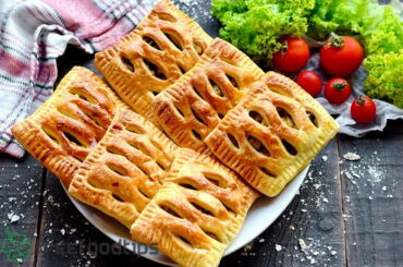 Chicken Mushroom Puff Pastry Pockets