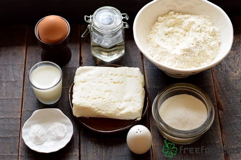 No Yeast Cottage Cheese Buns Ingredients