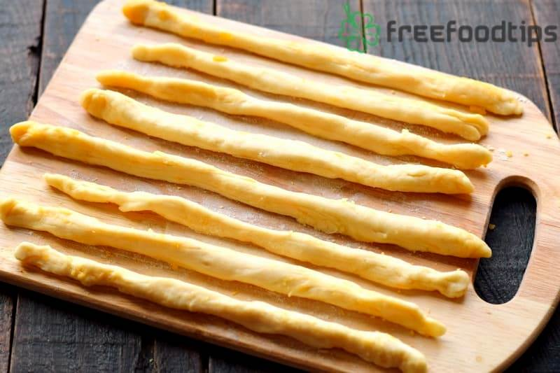 Form sticks from the dough