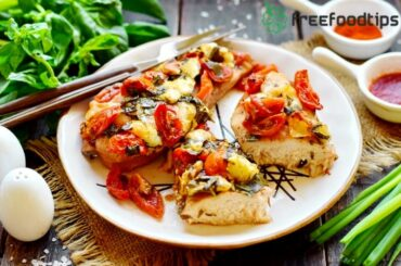 Baked Tomato Basil Chicken Recipe with Mozzarella