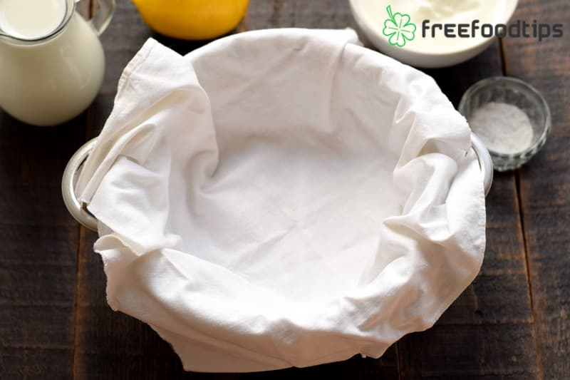 Lay out a butter muslin cloth