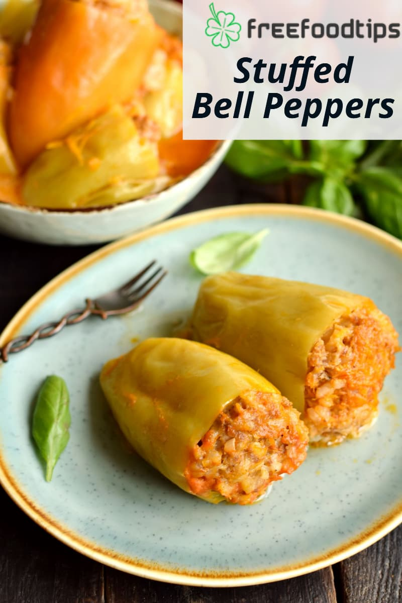 Stuffed-Bell-Peppers-Recipe with Beef and Rice