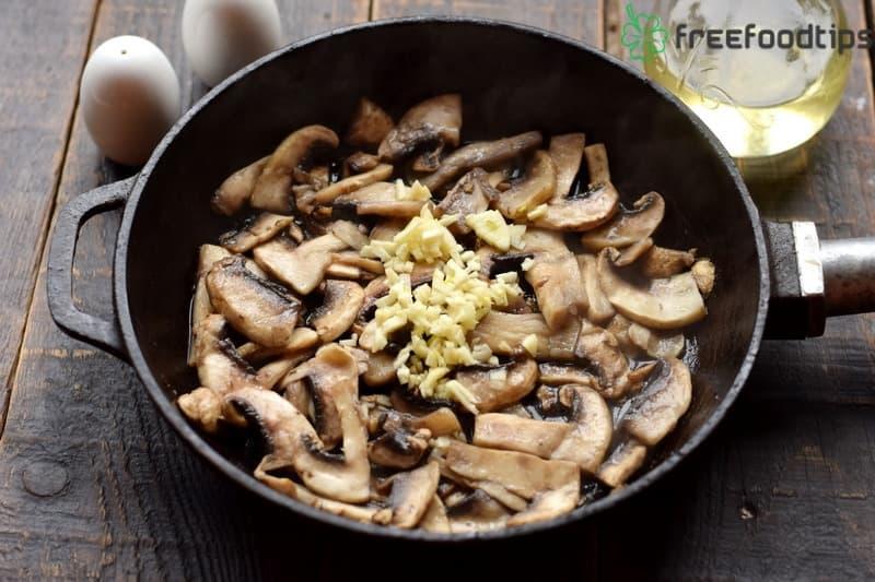 Add crushed garlic