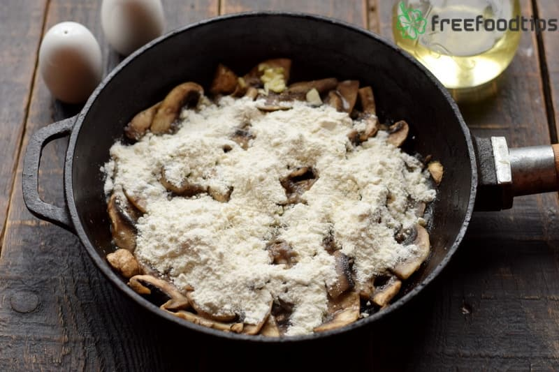 Add flour to the skillet