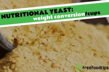 How much nutritional yeast is in a cup