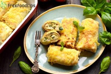 Spinach Chicken Crepes Recipe