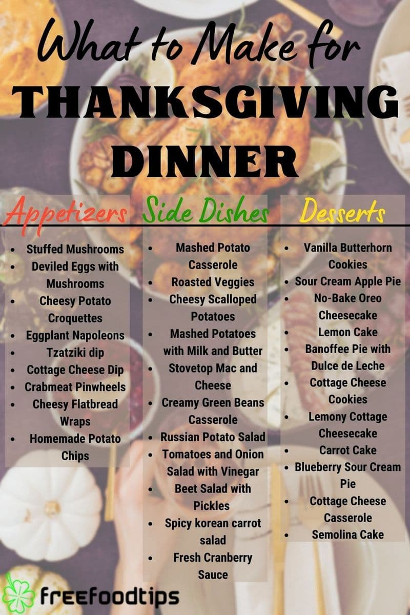 What to have for Thanksgiving dinner
